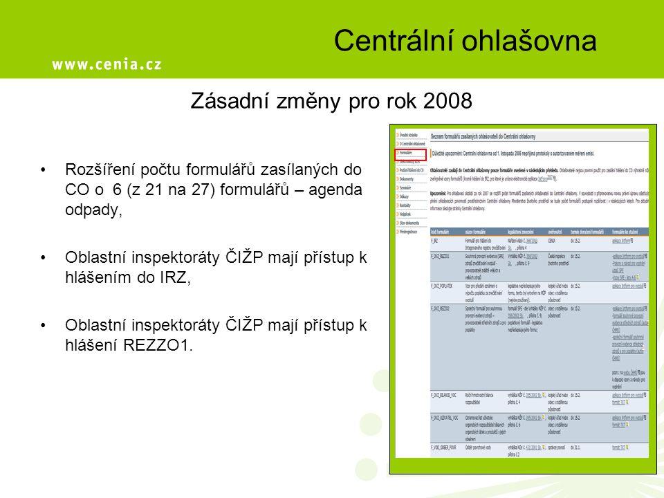 Integrovaný systém plnění ohlašovacích povinností Vychází ze zákona č.