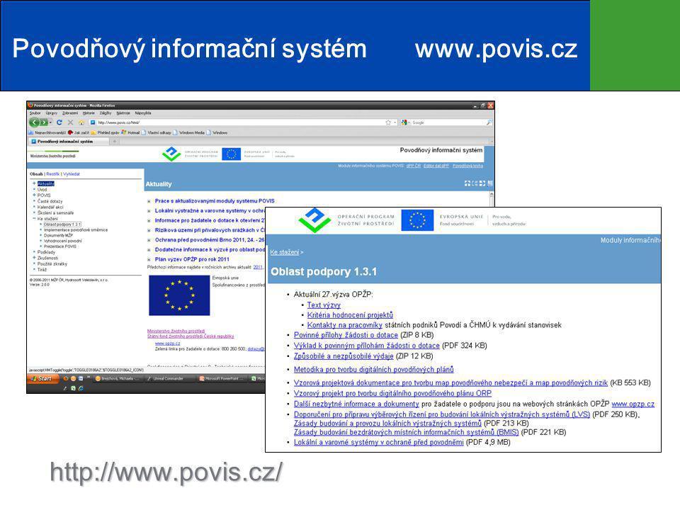 http://www.povis.cz/ Povodňový informační systémwww.povis.cz
