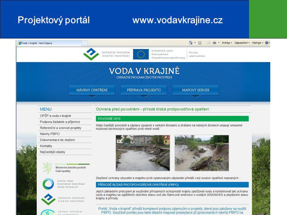 16 Projektový portál www.vodavkrajine.cz