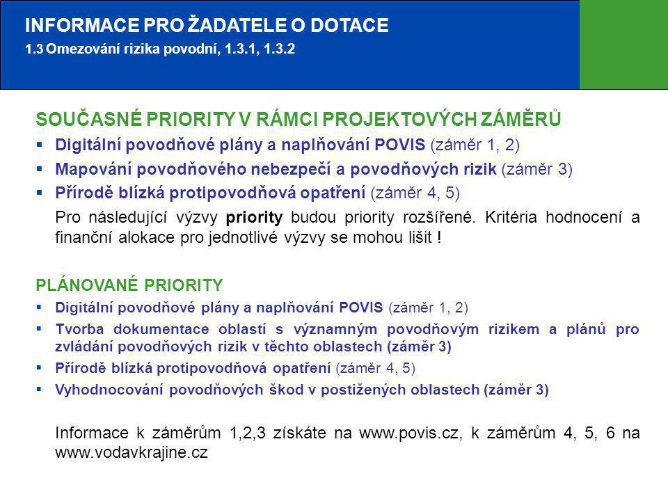 3 HISTORIE 1.3.1 OPŽP  Již proběhly výzvy VI.(2008), X.