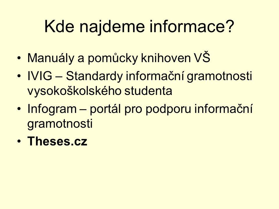 Kde najdeme informace.