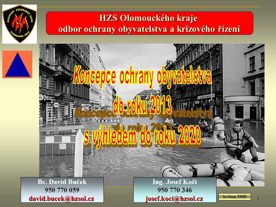 1 HZS Olomouckého kraje odbor ochrany obyvatelstva a krizového řízení odbor ochrany obyvatelstva a krizového řízení Ing. Josef Kočí 950 770 346josef.k