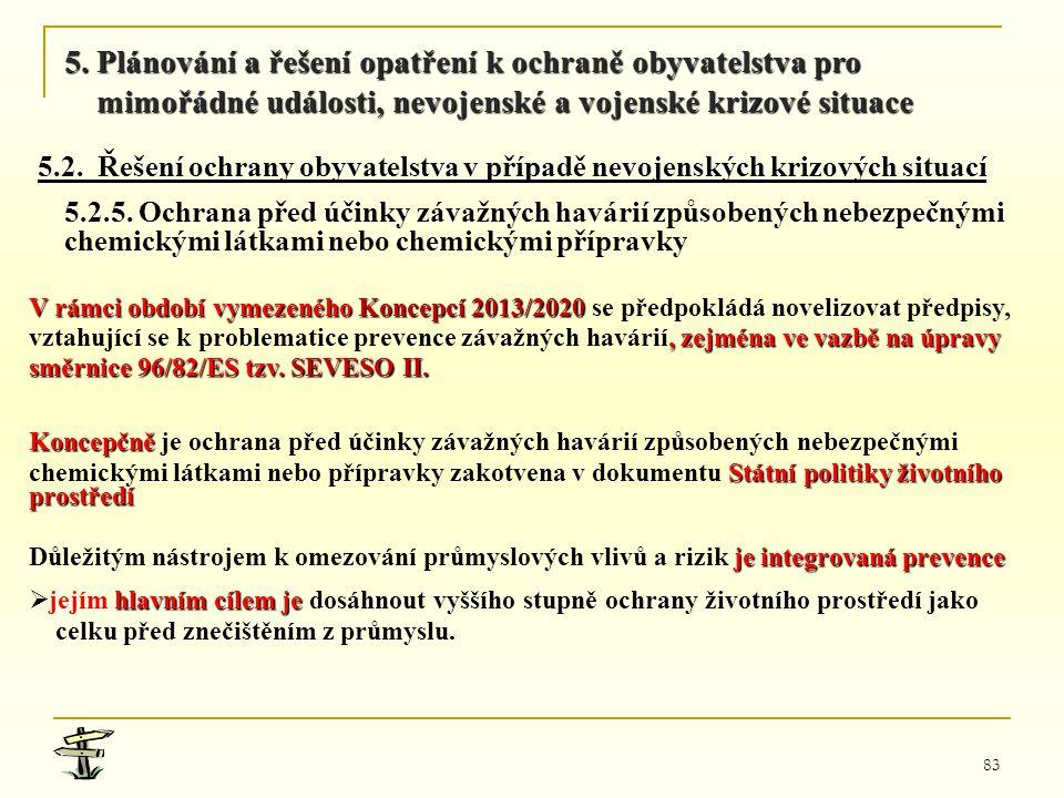 83 V rámci období vymezeného Koncepcí 2013/2020 V rámci období vymezeného Koncepcí 2013/2020 se předpokládá novelizovat předpisy,, zejména ve vazbě na