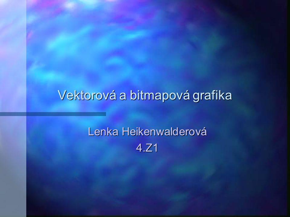 Vektorová a bitmapová grafika Lenka Heikenwalderová 4.Z1