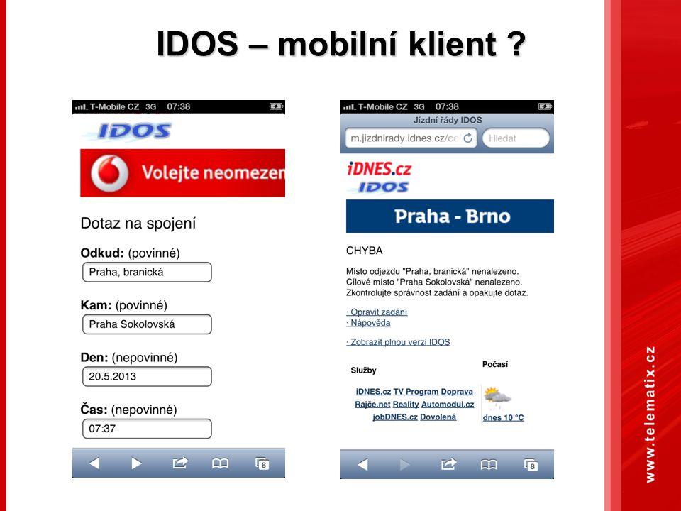 IDOS – mobilní klient ?