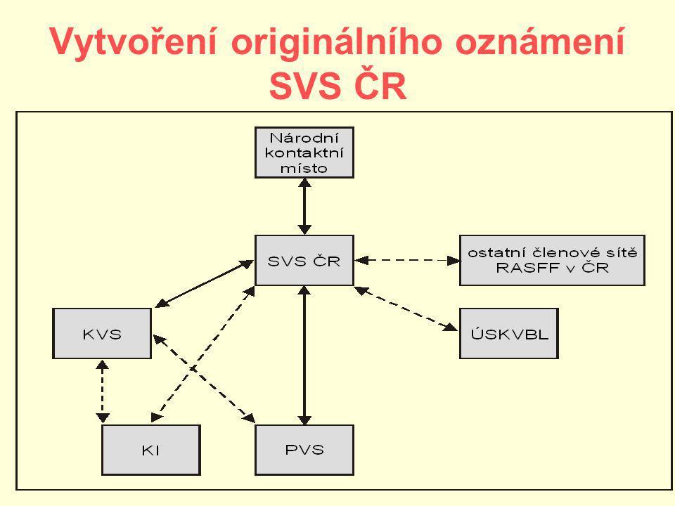 Vytvoření originálního oznámení SVS ČR