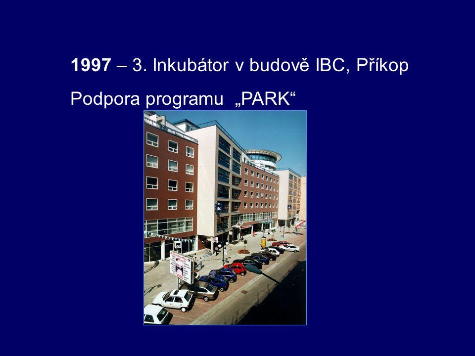 """1997 – 3. Inkubátor v budově IBC, Příkop Podpora programu """"PARK"""""""