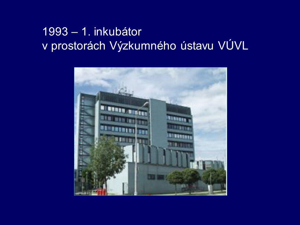 1993 – 1. inkubátor v prostorách Výzkumného ústavu VÚVL