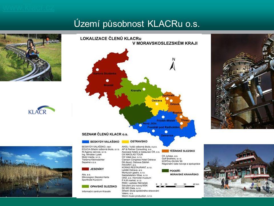 1 kraj, 4 destinace www.klacr.cz Území působnost KLACRu o.s.