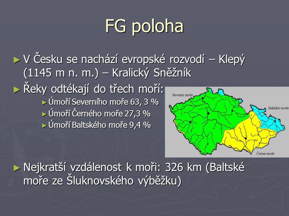FG poloha ► V Česku se nachází evropské rozvodí – Klepý (1145 m n.