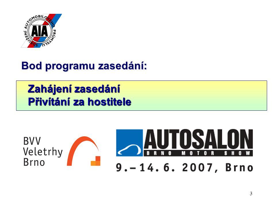 4 Bod programu zasedání: 1.Český automobilový průmysl v roce 2006 (Dr.h.c.
