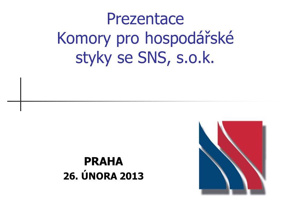 Prezentace Komory pro hospodářské styky se SNS, s.o.k. PRAHA 26. ÚNORA 2013
