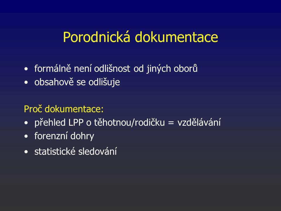 Právní úprava zdravotnické dokumentace zákon č.