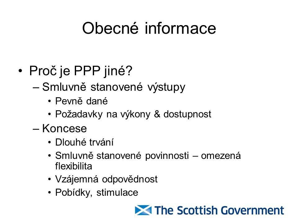 Obecné informace Řízení plánování a procesů PPP –šestifázový proces: Zahájení Příprava projektu Zadávací proces Výstavba Provoz Předání –Každá fáze se skládá z několika podfází