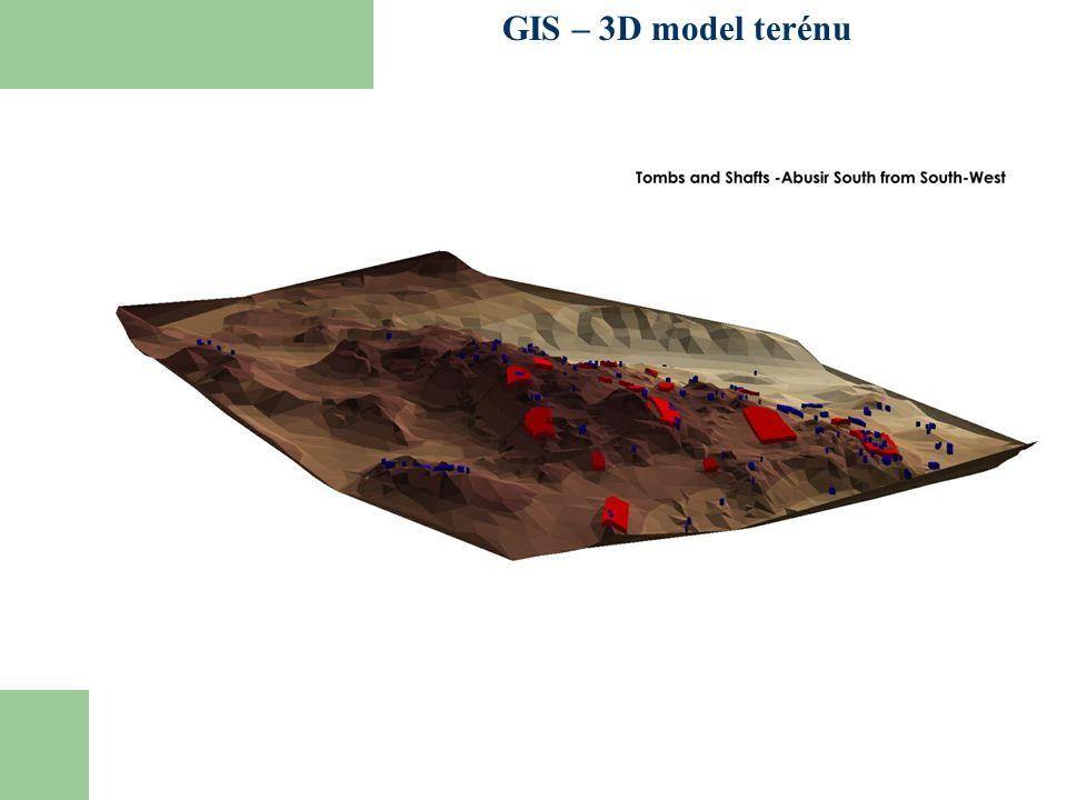GIS – 3D model terénu