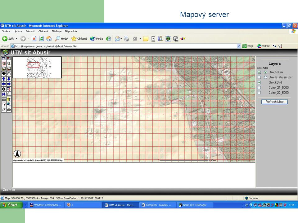 Mapový server