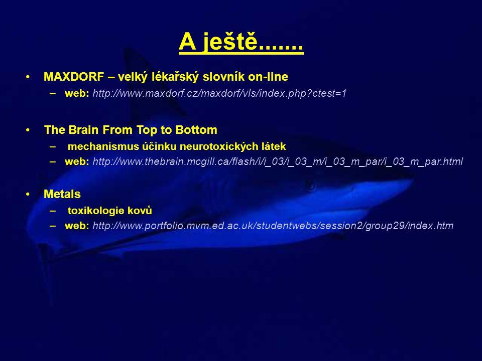A ještě....... MAXDORF – velký lékařský slovník on-line –web: http://www.maxdorf.cz/maxdorf/vls/index.php?ctest=1 The Brain From Top to Bottom – mecha