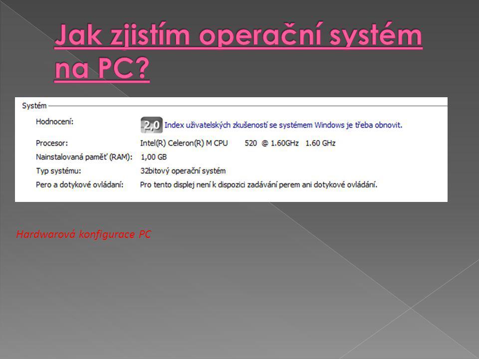Hardwarová konfigurace PC