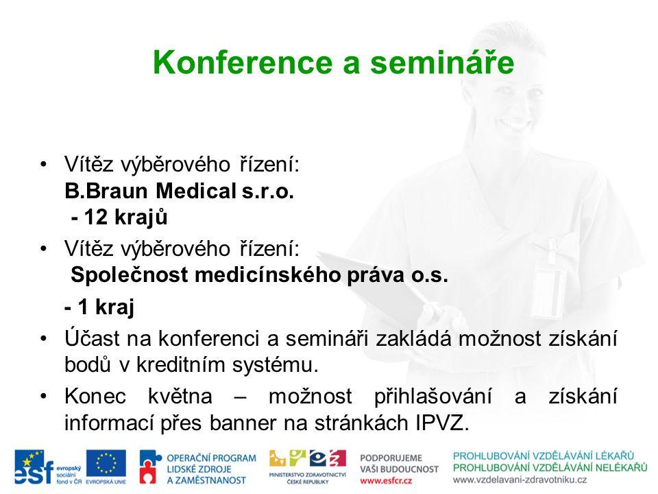 Konference a semináře Vítěz výběrového řízení: B.Braun Medical s.r.o.