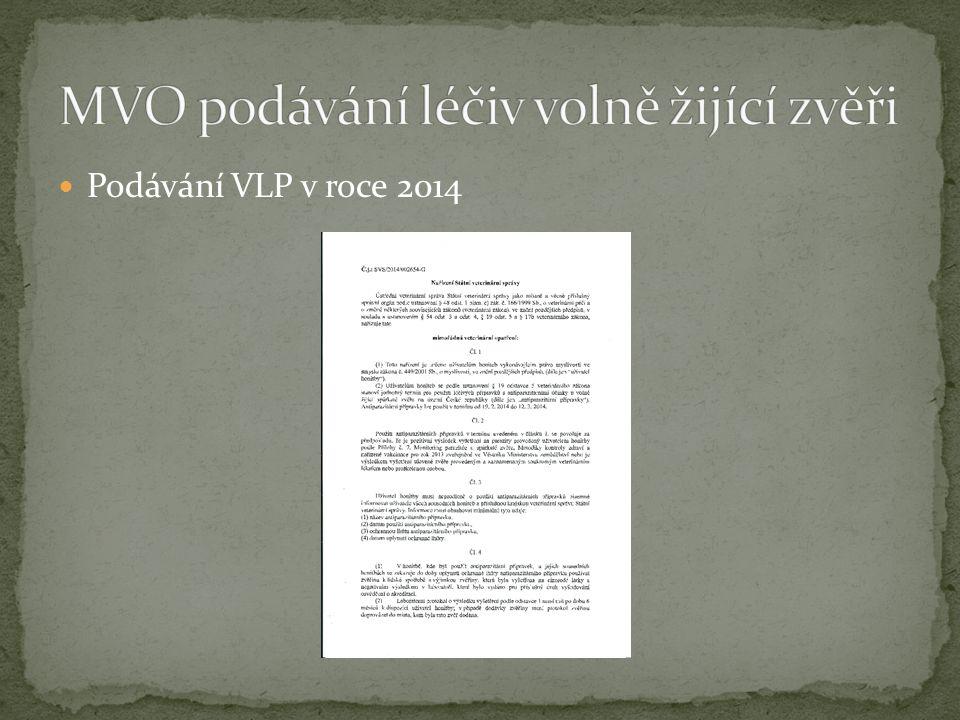 Podávání VLP v roce 2014