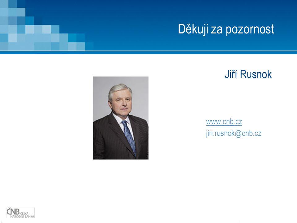 Děkuji za pozornost Jiří Rusnok www.cnb.cz jiri.rusnok@cnb.cz