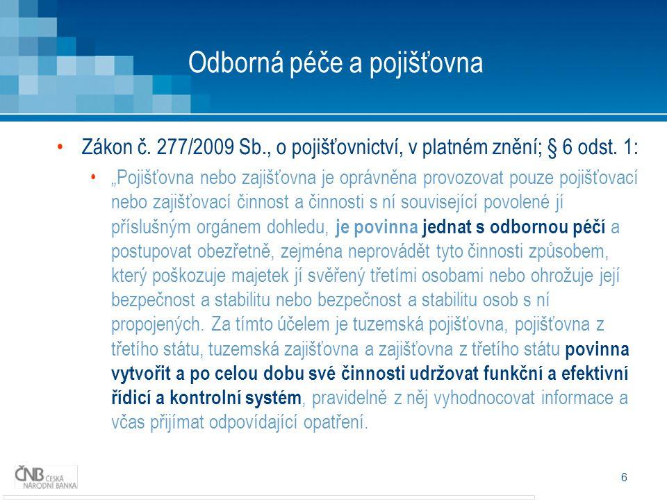7 Oborná péče a poj.zprostředkovatel Zákon 38/2004 Sb.