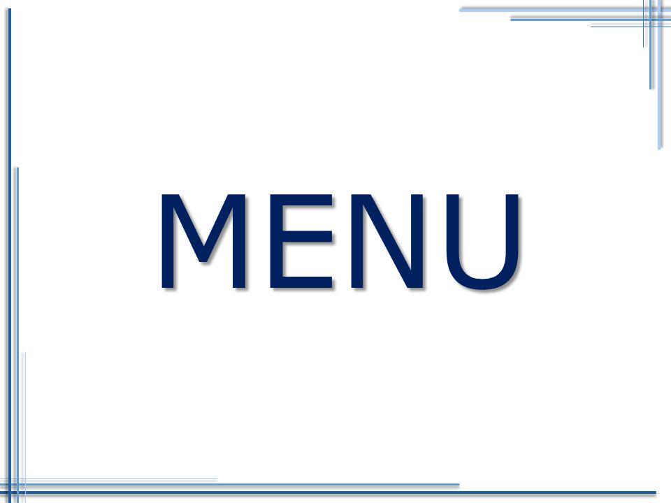 Menu Druhy menu Pořadí pokrmů a nápojů v menu Založení inventáře pro jednu osobu Pravidla pro tvorbu menu Grafické zpracování Trendy v tvorbě menu Degustační menu Klíčové pojmy