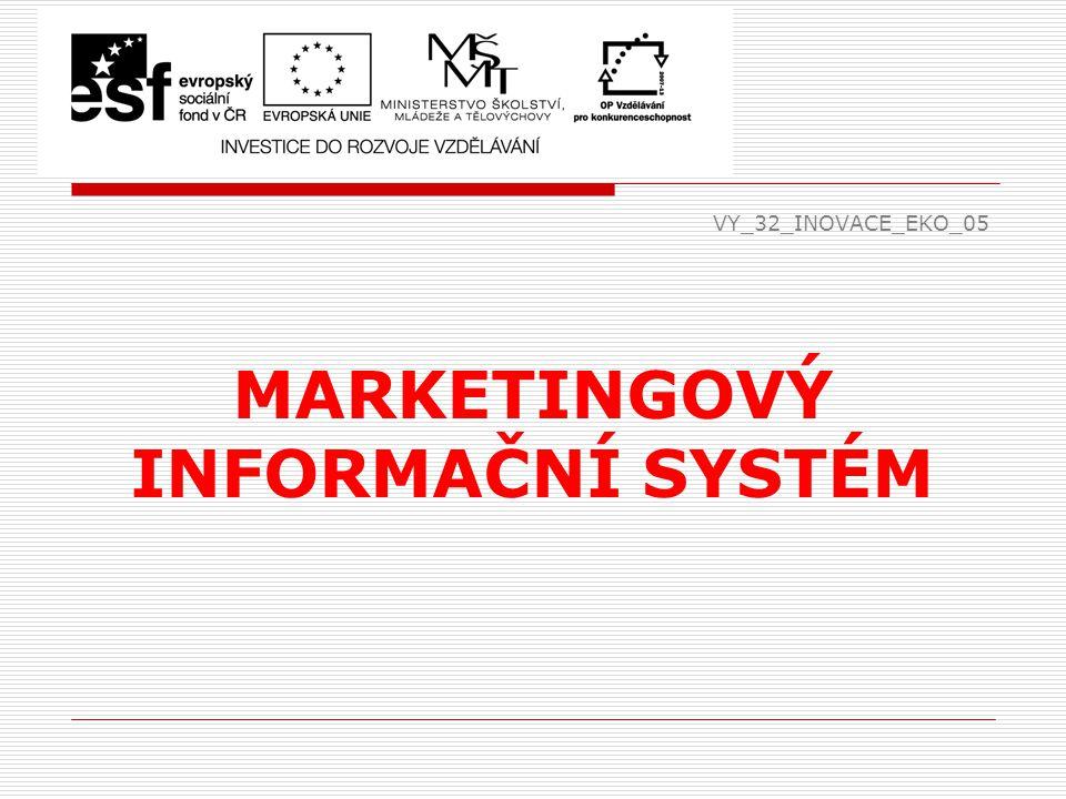 VY_32_INOVACE_EKO_05 MARKETINGOVÝ INFORMAČNÍ SYSTÉM
