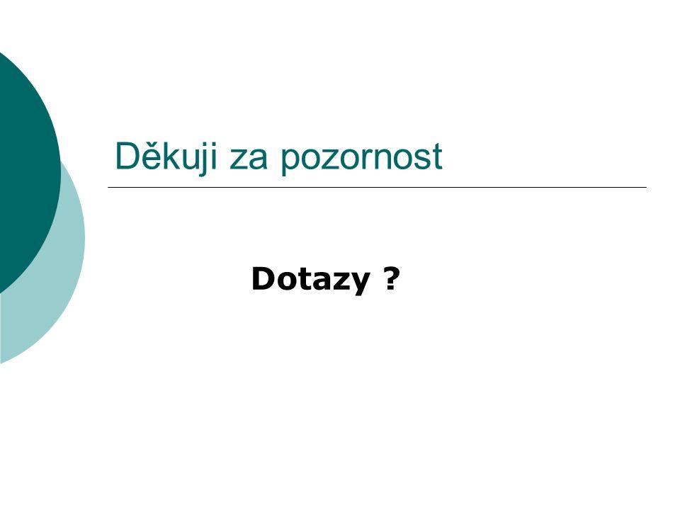 Děkuji za pozornost Dotazy ?