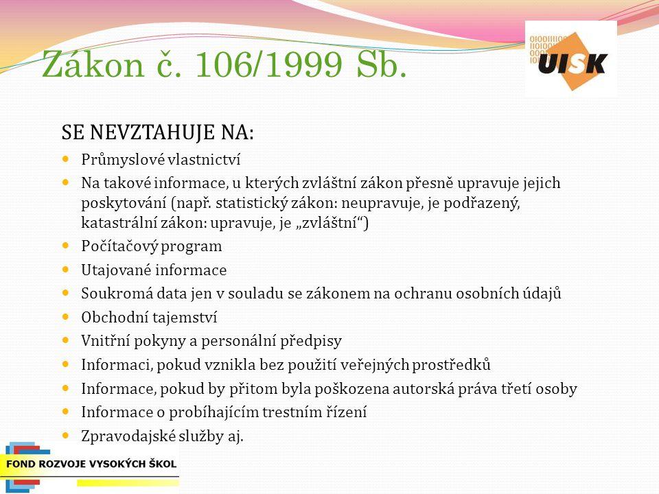 Zákon č. 106/1999 Sb.