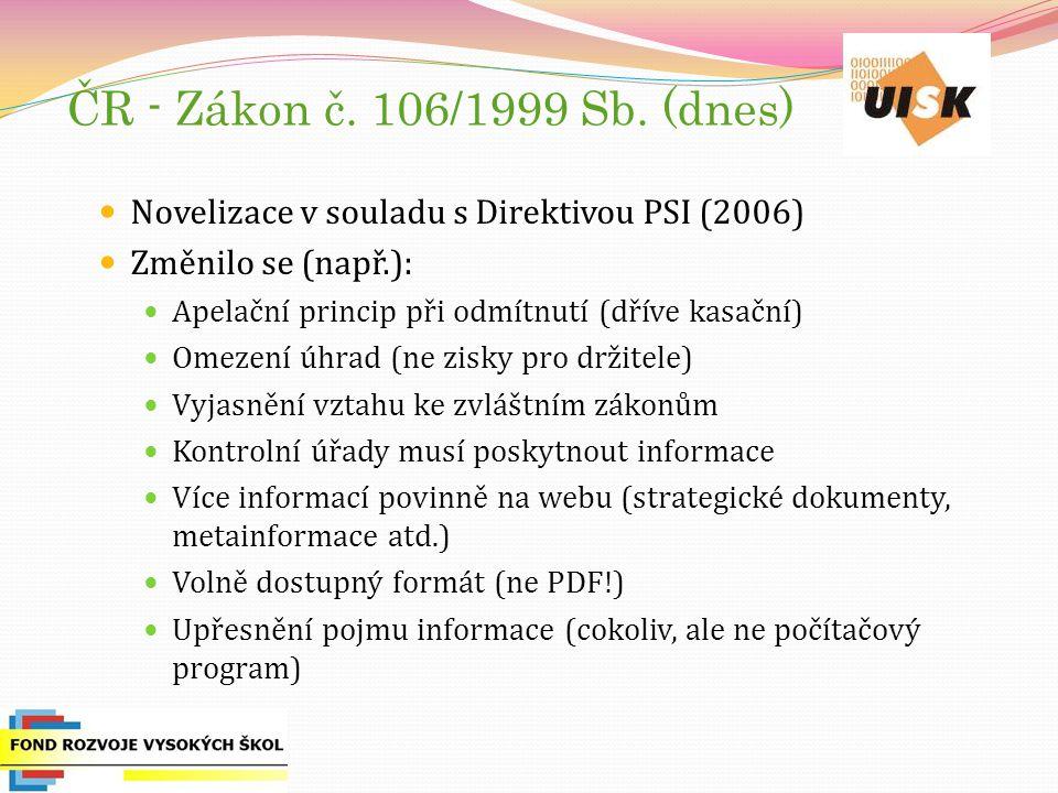 ČR - Zákon č. 106/1999 Sb.