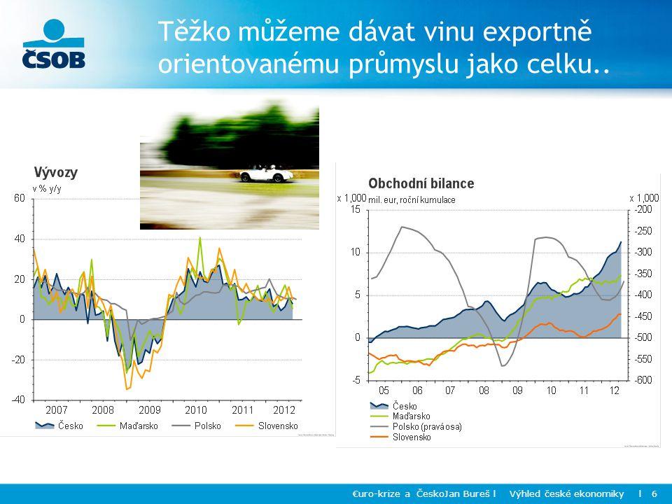 Těžko můžeme dávat vinu exportně orientovanému průmyslu jako celku..