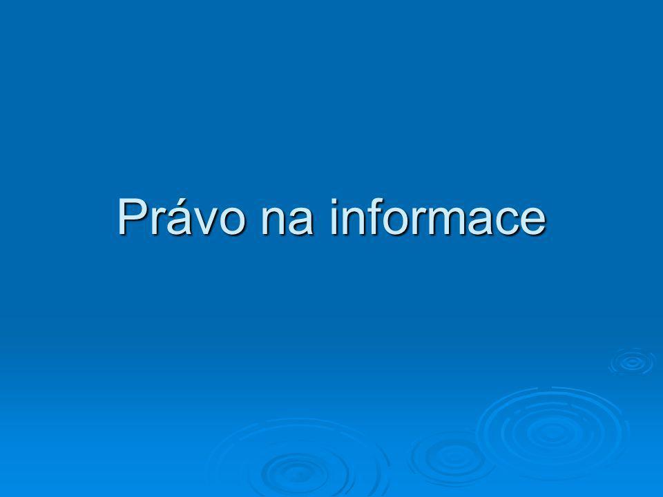 Právo na informace