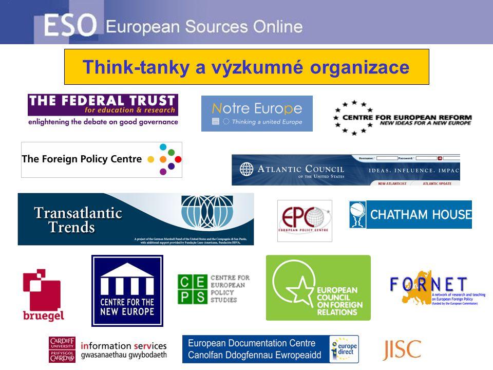 Think-tanky a výzkumné organizace