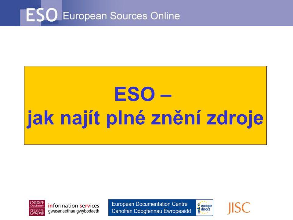 ESO – jak najít plné znění zdroje