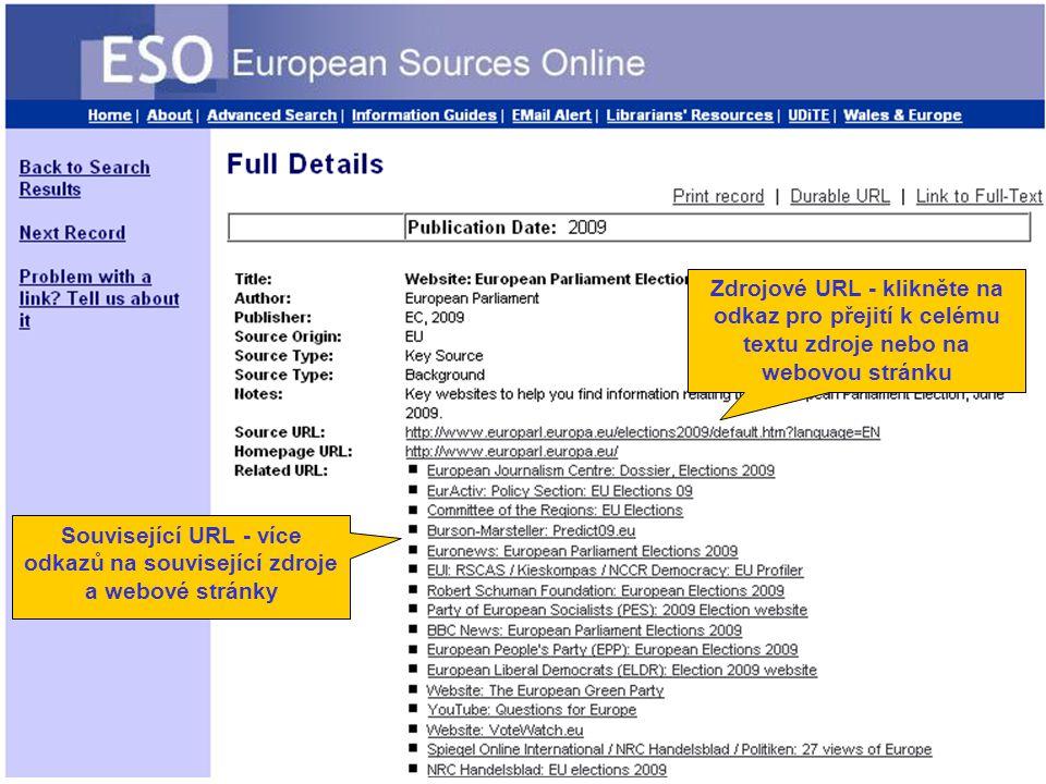 Zdrojové URL - klikněte na odkaz pro přejití k celému textu zdroje nebo na webovou stránku Související URL - více odkazů na související zdroje a webové stránky
