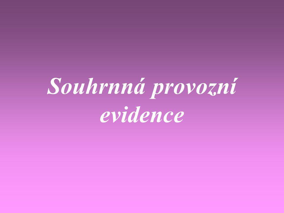 Souhrnná provozní evidence