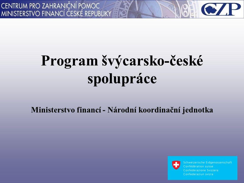 Program švýcarsko-české spolupráce Ministerstvo financí - Národní koordinační jednotka
