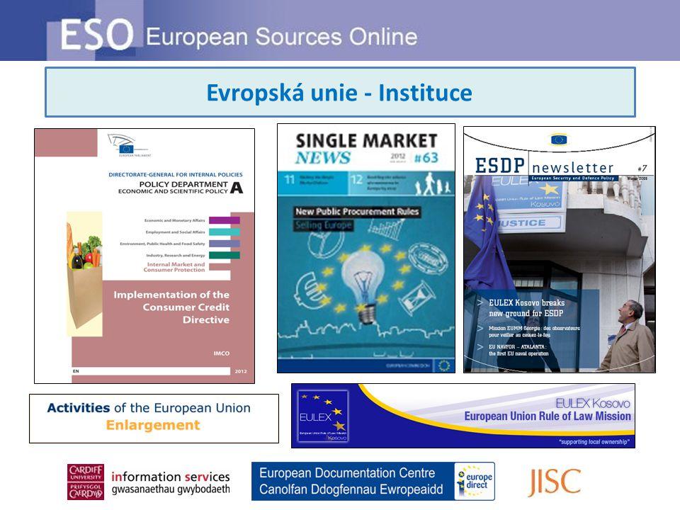 Evropská unie - Instituce