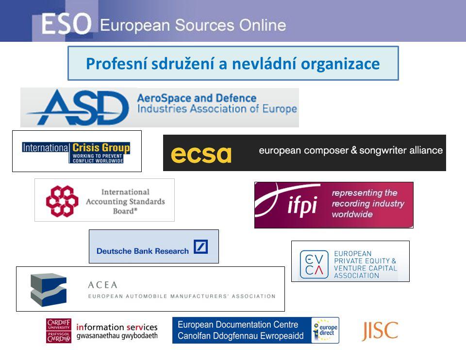 Profesní sdružení a nevládní organizace