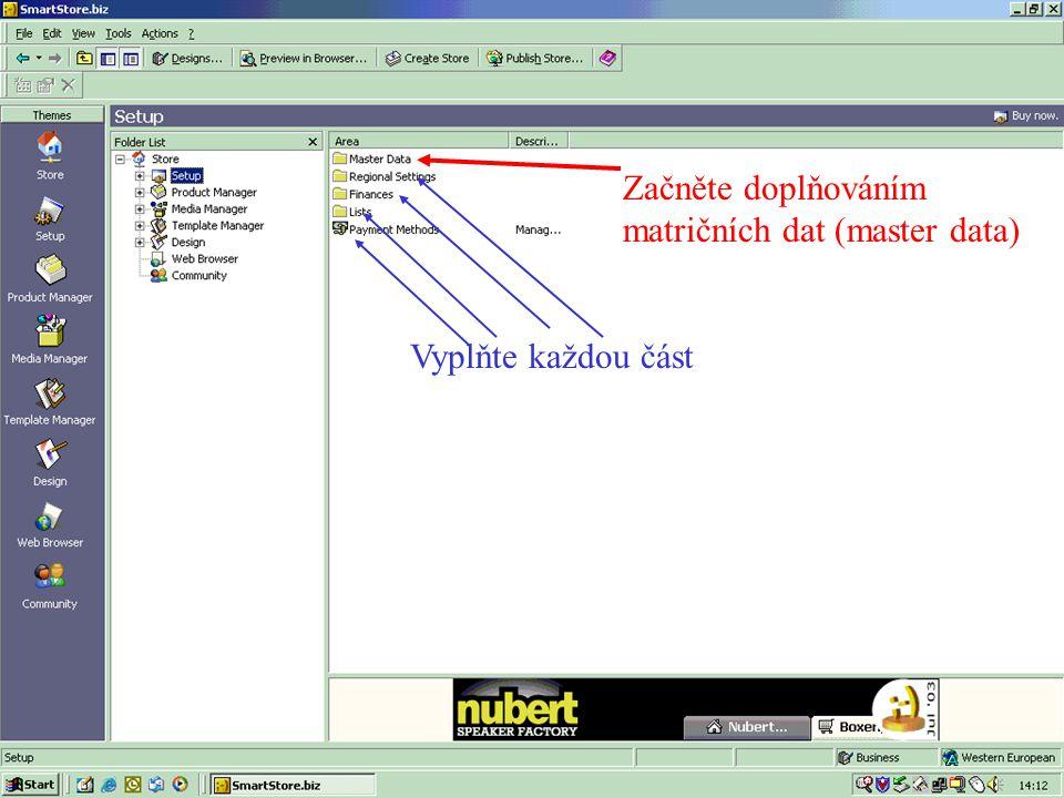 Pro uložení dat stiskněte Edit HTML.