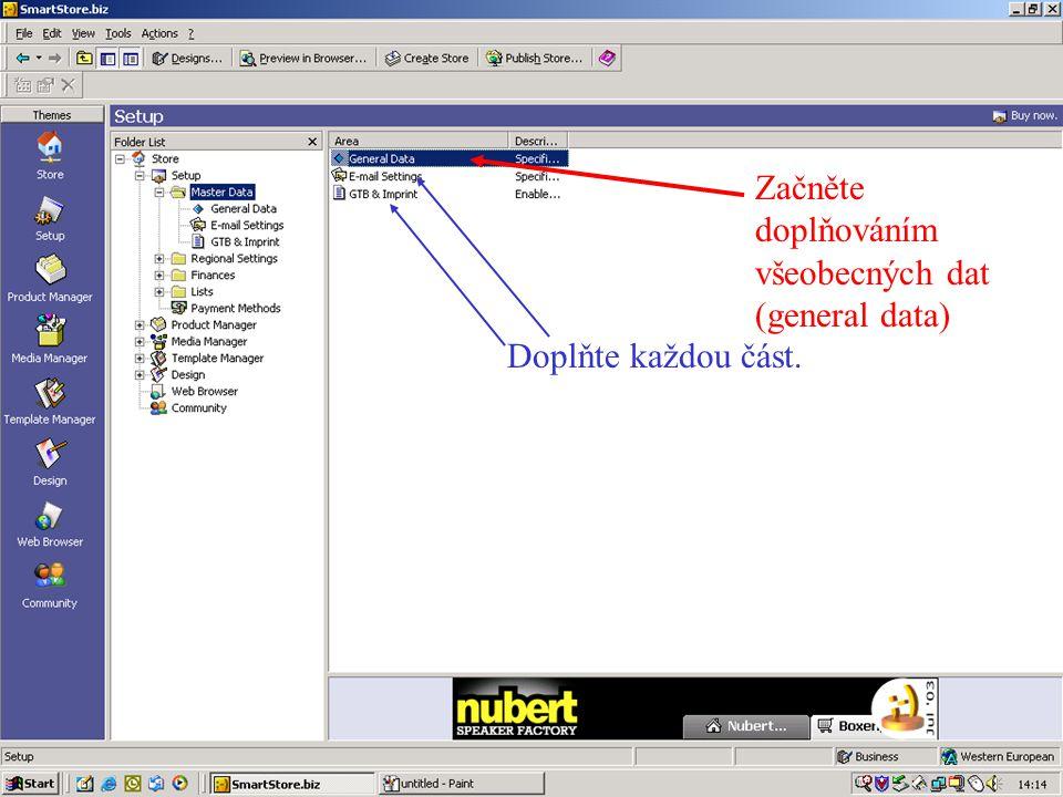 Vložte obrázek výrobku dvakrát – klikněte na tlačítko a pak stiskněte tlačítko import new file po pravé straně obrazovky.