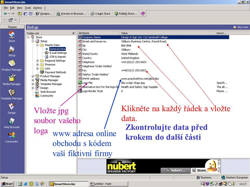 Klikněte na Edit HTML k vložení detailního popisu