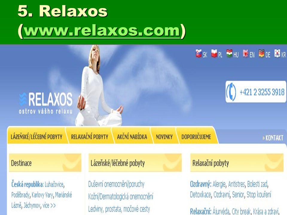 5. Relaxos (www.relaxos.com) www.relaxos.com