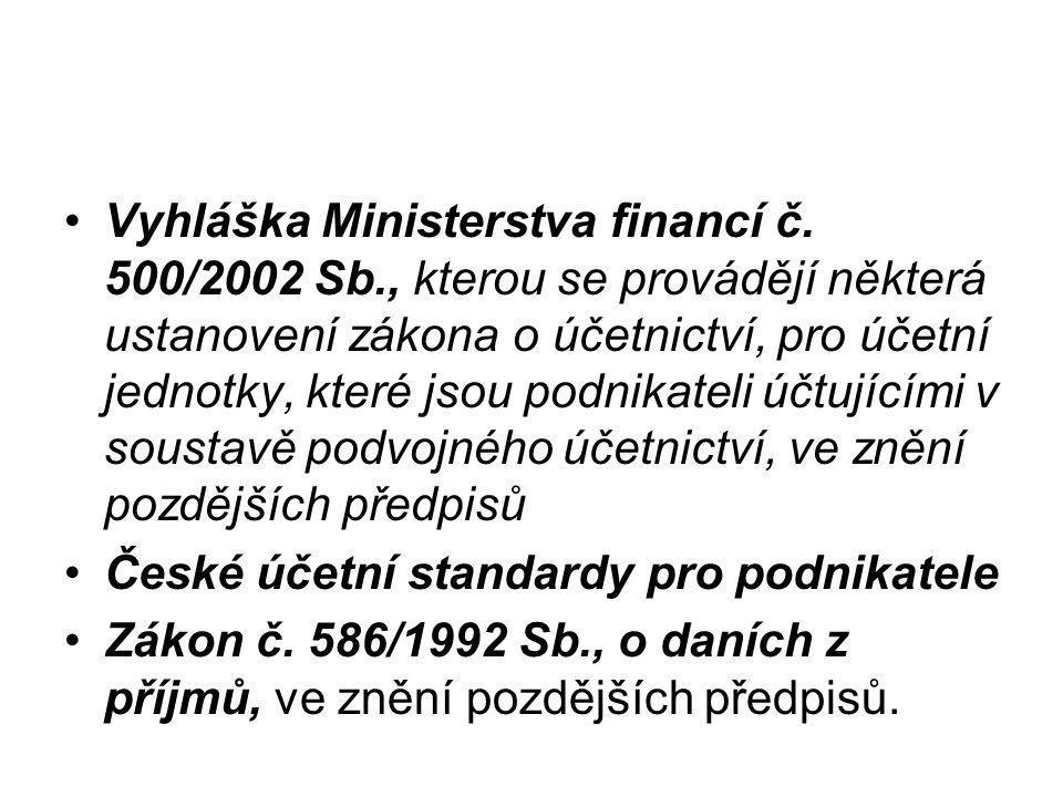 Vyhláška Ministerstva financí č.