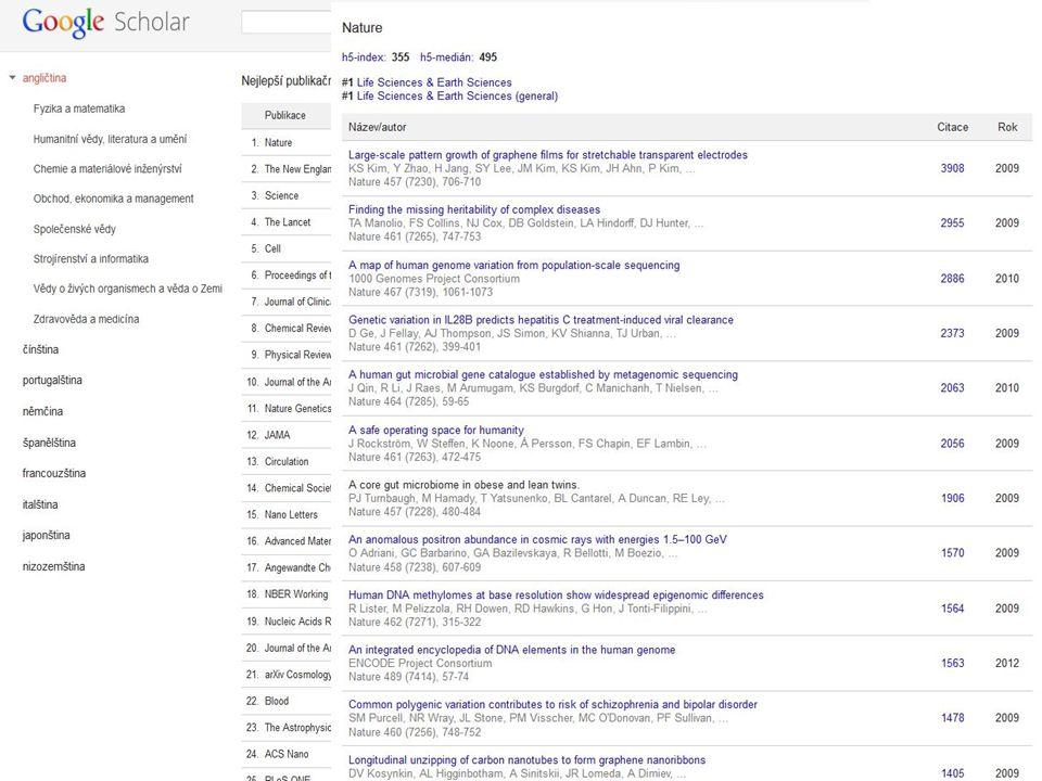 Microsoft Academic Search ↘ Vyhledávání bibliografických informací.