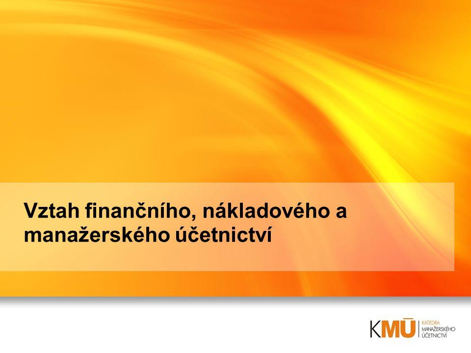 Vztah finančního, nákladového a manažerského účetnictví