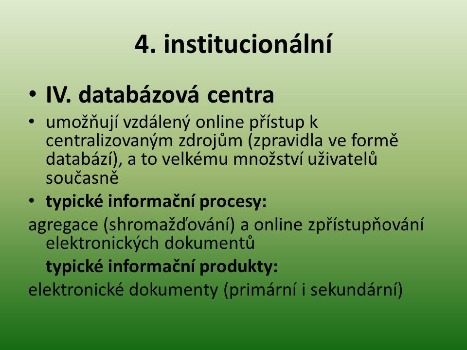 4.institucionální IV.
