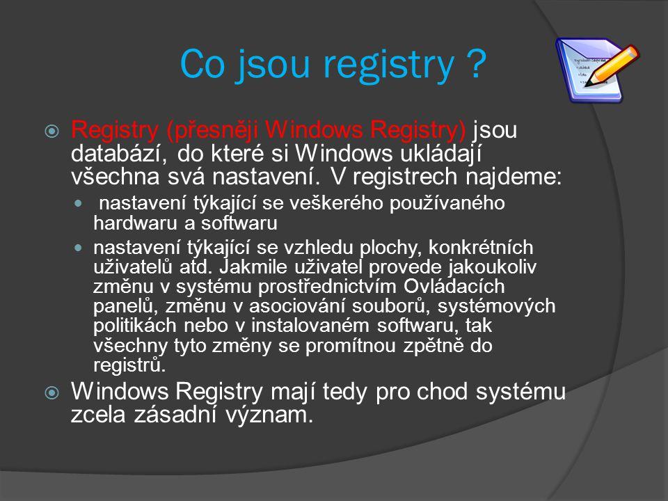 Co jsou registry .