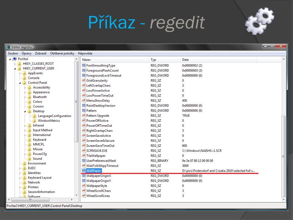Doplňte kód formuláře private void btn_LoadRegistry_Click(object sender, EventArgs e) { LoadRegistryValues(); } private void LoadRegistryValues() { //vytvořím instanci třídy MyRegistry (lokální) MyRegistry myRegCls = new MyRegistry(); //vytvořím řetězcové pole k načtení výsledků, které //vrací metoda ReadMyTestRegKey třídy MyRegistry string[] RegValues; //vyčistím textbox richTextBoxRegistryValues.Clear(); //načtu do lokální proměnné typu pole řetězců výsledek metody RegValues = myRegCls.ReadMyTestRegKey(); //vrácený výsledek načtu do RichTextBoxu richTextBoxRegistryValues.Lines = RegValues; }